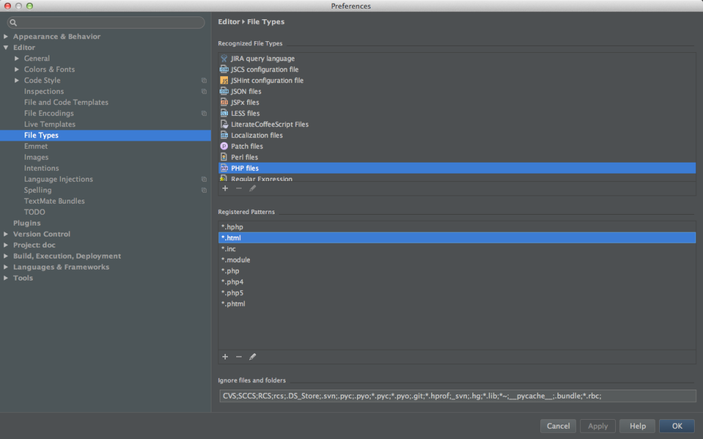 phpstorm-setting-file-type-php-add-html-done