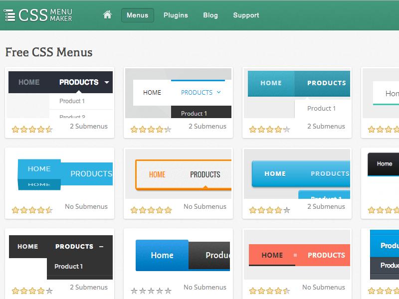 css-menu-maker-list