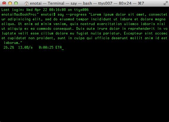 terminal-say-progress