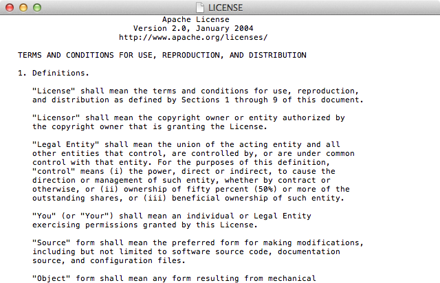 textedit-apache-license-normal